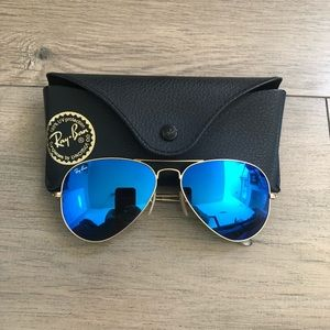Ray-ban RB3025 Blue Mirror Aviator Sunglasses